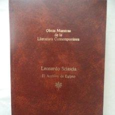 Libros de segunda mano: EL ARCHIVO DE EGIPTO LEONARDO SCIASCIA PLAZA Y JANES NUEVO 20,5X13 CM 188 PAGINAS TAPA DURA. Lote 191170296