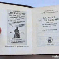 Libros de segunda mano: LA NIÑA DE LOS EMBUSTES- ALONSO DE CASTILLO -CRISOL Nº036 1964 TOLLE LEGE (8,2 X 6,7 CM). Lote 194300845