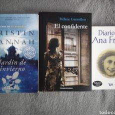 Libros de segunda mano: LOTE TRES NOVELAS GUERRA MUNDIAL RUSÍA HOLOCAUSTO HANNAH GREMILLON ANA FRANK. Lote 194940221