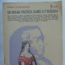 Libros de segunda mano: REVISTA LITERARIA : UN DRAMA POLITICO: ISABEL II Y OLOZAGA , CONDE DE ROMANONES. 1958. Lote 195026105
