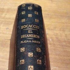 Libros de segunda mano: EL DECAMERÓN BOCACCIO PLAZA Y JANÉS 1963. Lote 195194986