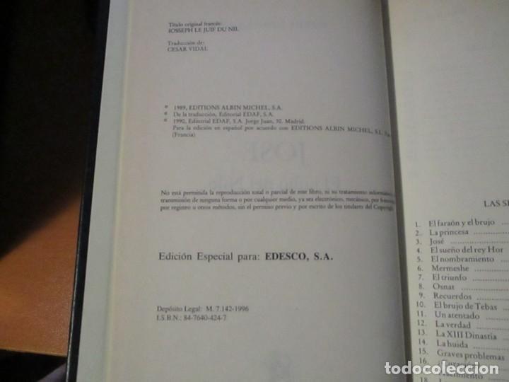 Libros de segunda mano: JOSÉ El Judio del Nilo Pierre Montlaur Editorial Edaf Edesco 1996 - Foto 5 - 198295815