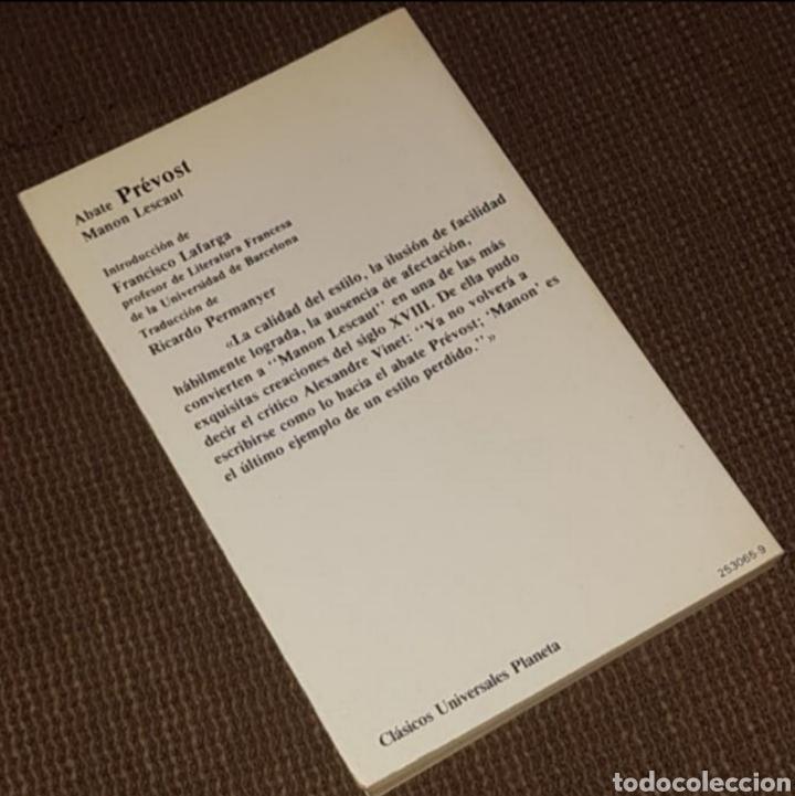 Libros de segunda mano: Manon Lescaut - Abate Prévost, Planeta Clásicos Universales, 1983 - Foto 2 - 203824375