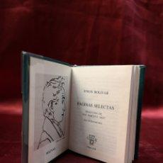 Libros de segunda mano: CRISOLIN - PÁGINAS SELECTAS - SIMON BOLIVAR - 038. Lote 206332395
