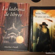 Libros de segunda mano: LA LADRONA DE LIBROS Y EL SÁTIRO DEL METRO. Lote 207566988