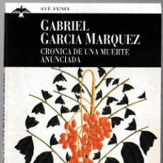 Libros de segunda mano: CRÓNICA DE UNA MUERTE ANUNCIADA - G GARCÍA MÁRQUEZ - PLAZA JANÉS 1997. Lote 210633788