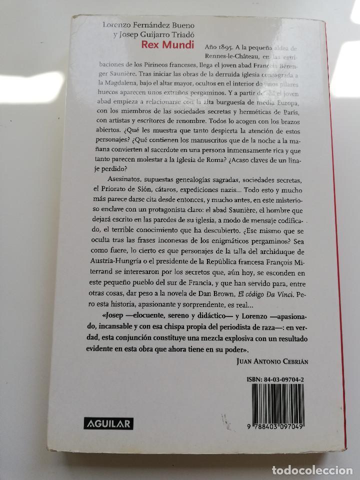 Libros de segunda mano: REX MUNDI (LORENZO FERNÁNDEZ BUENO / JOSEP GUIJARRO TRIADÓ) - Foto 9 - 214340931