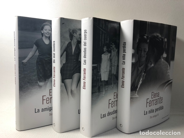 DOS AMIGAS (COMPLETA 4 VOLS. ) ··· ELENA FERRANTE ·· ED. CIRCULO DE LECTORES (Libros de Segunda Mano (posteriores a 1936) - Literatura - Narrativa - Novela Histórica)