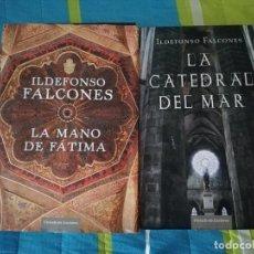 Libros de segunda mano: LIBROS ILDEFONSO FALCONES LA CATEDRAL DEL MAR Y LA MANO DE FÁTIMA - CÍRCULO DE LECTORES. Lote 221933832