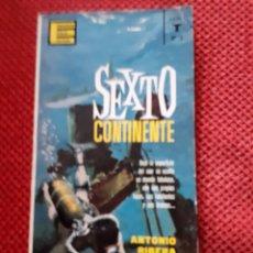 Libros de segunda mano: SEXTO CONTINENTE - ANTONIO RIBERA. Lote 222153946