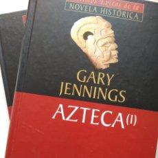 Libros de segunda mano: AZTECA 2 TOMOS/GARY JENNINGS. Lote 222226940