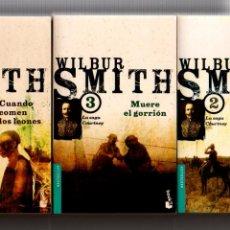 Libros de segunda mano: LA SAGA COURTNEY 1-2-3. (VER DESCRPCION). WILBUR SMITH. EMECE EDITORES, 1ª EDICION 2002. Lote 222790597