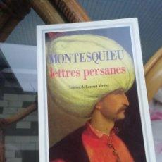 Libros de segunda mano: LETTRES PERSANES DE MONTESQUIEU EN FRANCÉS. TEXTO ÍNTEGRO. Lote 230839700
