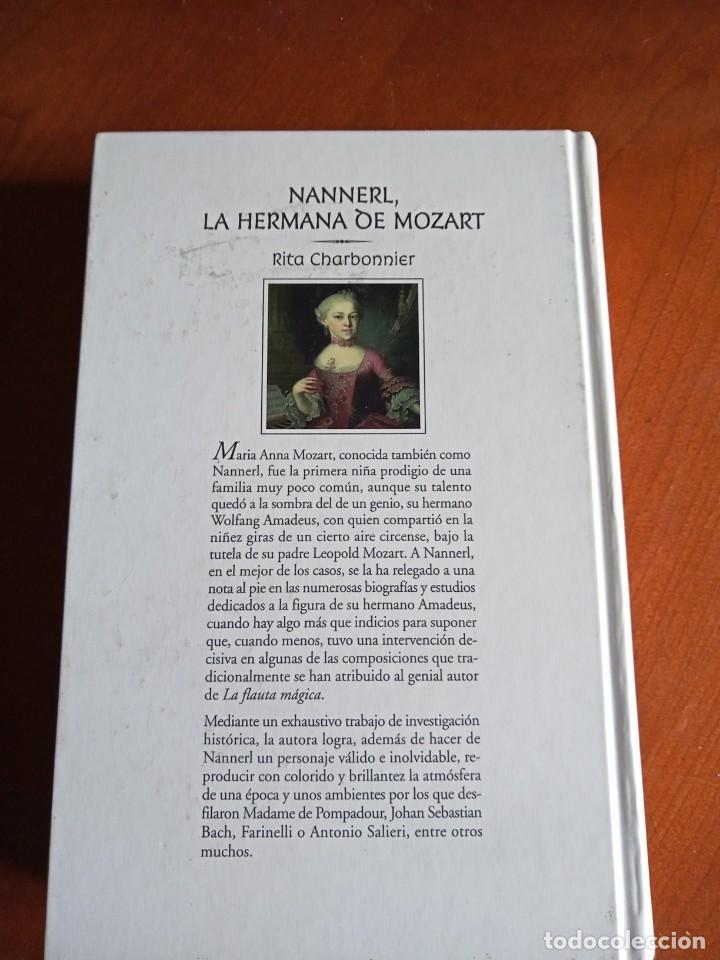 Libros de segunda mano: Nannerl, la hermana de Mozart. Rita Charbonnier. - Foto 2 - 232683025