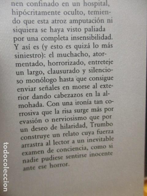 Libros de segunda mano: JOHNNY COGIO SU FUSIL - DALTON TRUMBO - CIRCULO DE LECTORES - Foto 5 - 235375345