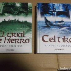 Libros de segunda mano: CELTIKA EL CODICE MERLIN I Y II ROBERT HOLDSTOCK. Lote 236795725