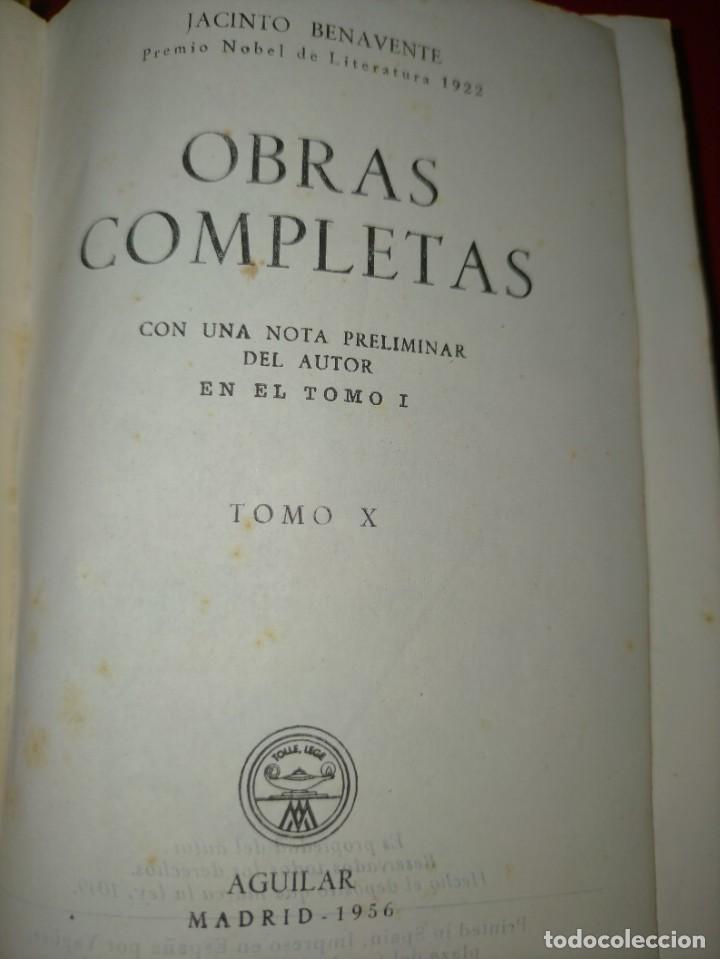 Libros de segunda mano: OBRAS COMPLETAS --- JACINTO BENAVENTE, TOMO X --- AGUILAR 1956 --- - Foto 5 - 237003310