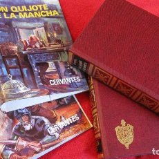 Libros de segunda mano: PETRONIO: DON QUIJOTE DE LA MANCHA 2 VOLUMENES. NUEVOS A ESTRENAR.FILODORO Y GUARDAS 1.970. Lote 237045950