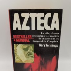 Libros de segunda mano: AZTECA. GARY JENNINGS. PLANETA EDITORIAL. 1º ED. BARCELONA, 1980. PAGS: 865.. Lote 245573460