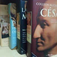 Libros de segunda mano: CESAR, LAS MUJERES DE CESAR, EL PRIMER HOMBRE DE ROMA, EL CABALLERO DE CESAR 4 VOL. Lote 245952050
