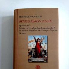 Livros em segunda mão: EPISODIOS NACIONALES. BENITO PÉREZ GALDÓS. BIBLIOTECA CASTRO. QUINTA SERIE COMPLETA. NUEVO. ED. LUJO. Lote 262878085