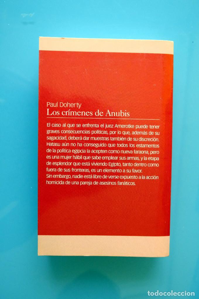 Libros de segunda mano: LOS CRÍMENES DE ANUBIS. PAUL DOHERTY- EDHASA BOLSILLO - Foto 2 - 263034905