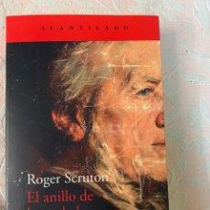 Libros de segunda mano: ROGER ,EL ANILLO DE LA VERDAD, LA SABIDURÍA DEL ANILLO DEL NIVELUNGO DE RICHARD WAGNER. Lote 263752950