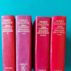 Livros em segunda mão: EPISODIOS NACIONALES. PÉREZ GALDOS. AGUILAR. 4 TOMOS. Lote 266286288