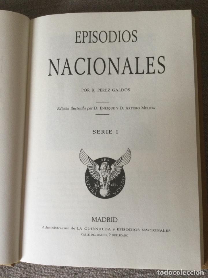 Libros de segunda mano: Episodios Nacionales. Benito Perez Galdos. 6 Tomos Serie I Nuevos Fascimil del Original de 1881 - Foto 9 - 271136028