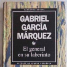 Libros de segunda mano: GABRIEL GARCIA MARQUEZ. EL GENERAL EN SU LABERINTO. LIBRO RBA. Lote 271534008