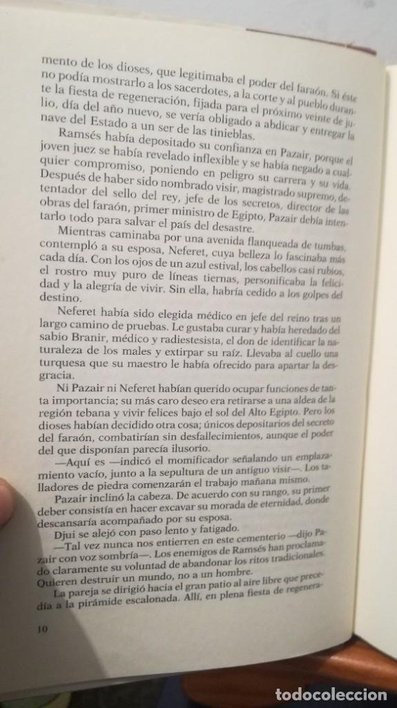 Libros de segunda mano: LA JUSTICIA DEL VISIR -- CHRISTIAN JACQ - Foto 11 - 273915388