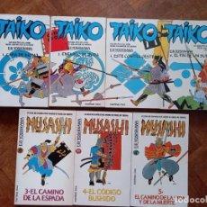 Libros de segunda mano: TAIKO: LIBRO 1, 2, 3 Y 4 + MUSASHI: LIBRO 3, 4 Y 5. Lote 275070118