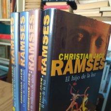 Libros de segunda mano: 4 VOLUMENES DE LA PENTALOGIA DE RAMSES, CHRISTIAN JACQ. TAPA DURA. BUEN ESTADO. Lote 276300018