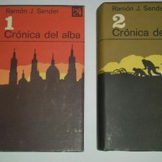 Libros de segunda mano: RAMON J. SENDER: CRONICA DEL ALBA. 2 VOL. COMPLETA. ANCORA Y DELFIN, 1973. PRIMERA (1ª) ED. DESTINO. Lote 290698198