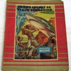 Libros de segunda mano: 20000 LEGUAS DE VIAJE SUBMARINO JULIO VERNE EDITORIAL MOLINO 1954. Lote 38763424
