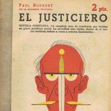 Libros de segunda mano: REVISTA LITERARIA, ARTE GRÁFICA, NOVELAS Y CUENTOS, EL JUSTICIERO. Lote 17767242
