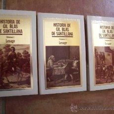 Libros de segunda mano: LESAGE - HISTORIA GIL BLAS DE SANTILLANA - Nº 82/83/84 - EDITORIAL ORBIS. Lote 206206691