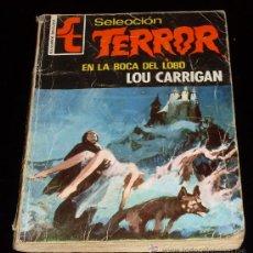 Libros de segunda mano: EN LA BOCA DEL LOBO - LOU CARRIGAN - SELECCION TERROR - CURIOSO ERROR DE IMPRESIÓN - BRUGUERA -1976. Lote 26006817