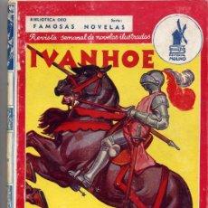 Libros de segunda mano: WALTER SCOTT / IVANHOE (E.MOLINO Nº 24 FAMOSAS NOVELAS AÑO III TAPA DURA). Lote 27246344