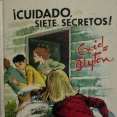 Libros de segunda mano: CUIDADO SIETE SECRETOS!. BLYTON ENID. 1974 EDITORIAL JUVENTUD. Lote 27071625