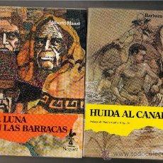 Libros de segunda mano - LOTE 2 NOVELAS AVENTURAS NOGUER - NUEVAS - ALBERTO MANZI - HUIDA AL CANADA -LUNA EN LAS BARRACAS - 28249772