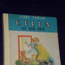 Libros de segunda mano: CELIA LO QUE DICE. POR ELENA FORTÚN. (1963). Lote 28621543