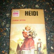 Libros de segunda mano: HEIDI, POR JUANA SPYRI - BRUGUERA - HISTORIAS SELECCIÓN - ESPAÑA - 1974 - DIBUJOS DE VICENTE ROSO. Lote 29129798