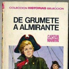 Libros de segunda mano: BRUGUERA HISTORIAS SELECCIÓN : CAPITÁN MARRYAT - DE GRUMETE A ALMIRANTE (1970). Lote 29619840