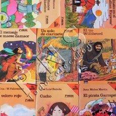 Libros de segunda mano: GRAN LOTE LIBROS BARCO DE VAPOR SM CUCHO EL PIRATA GARRAPATA VELERO ROJO MAESE ZAMAOR LIBRO INFANTIL. Lote 30770576