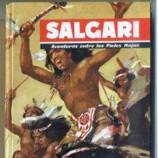 Libros de segunda mano: SALGARI : AVENTURAS ENTRE LOS PIELES ROJAS (MOLINO, 1955). Lote 38071511