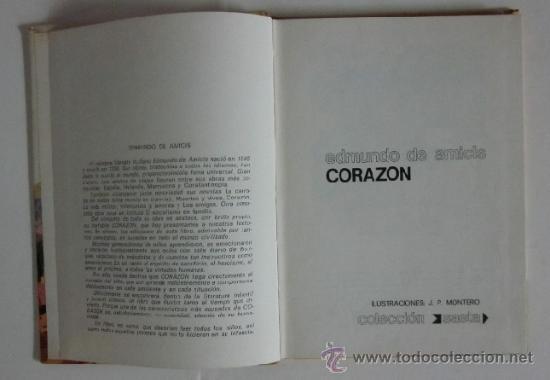 Libros de segunda mano: CORAZON - EDMUNDO DE AMICIS - Foto 3 - 33346308