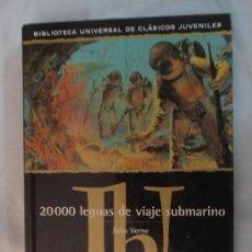 Libros de segunda mano: LIBRO. JULIO VERNE. 20000 LEGUAS DE VIAJE SUBMARINO CON ILUSTRACIONES. Lote 38700617