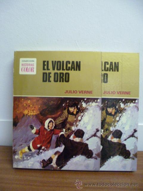 Libros de segunda mano: 1974 - Julio Verne - El volcan de oro - Bruguera - Foto 2 - 39719014