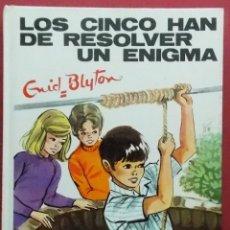 Libros de segunda mano: LOS CINCO HAN DE RESOLVER UN ENIGMA - ENID BLYTON - Nº 40 - EDITORIAL JUVENTUD 1983. Lote 40960543